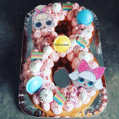 Number Cake 8 poupée LOL