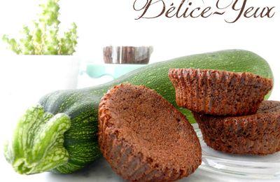 Mini gâteaux Chocolat &... Courgette ! {Sans beurre}