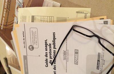 """Une nouvelle mise à jour de mon """"Guide des Usages, du Protocole et des Relations Publiques"""""""