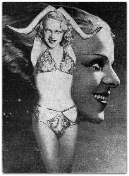 Barbara la May, l'envoutante danseuse contorsionniste blonde