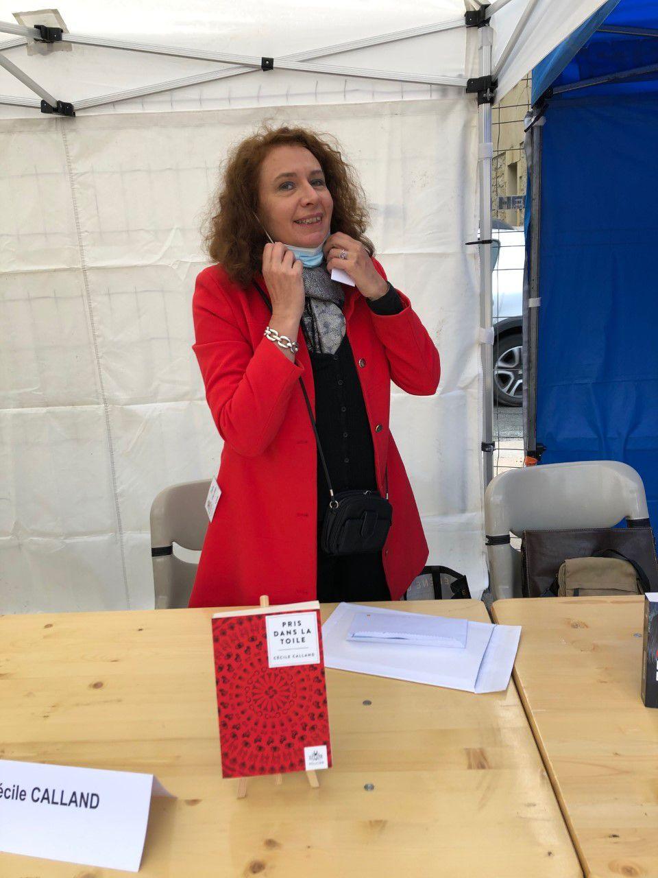 """Portrait du jour - Émotions artistiques avec le premier roman policier de Cécile Calland : """"Pris dans la Toile"""""""
