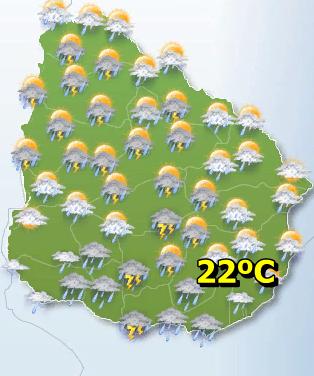 La maxima se registrara en el Norte del Pais, pasando los 30ºC