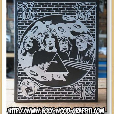 Tableau de pink Floyd - Fan art - Dark Side of the moon - The Wall