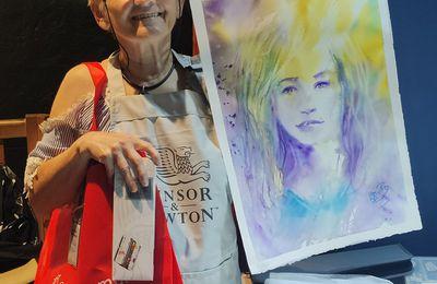 démonstrations aquarelle en image durant le festival Landes aquarelle 2020