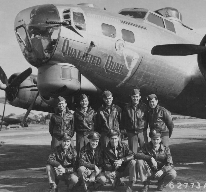 Photo du B-17G porteur de la Pin'up Qualified Quail