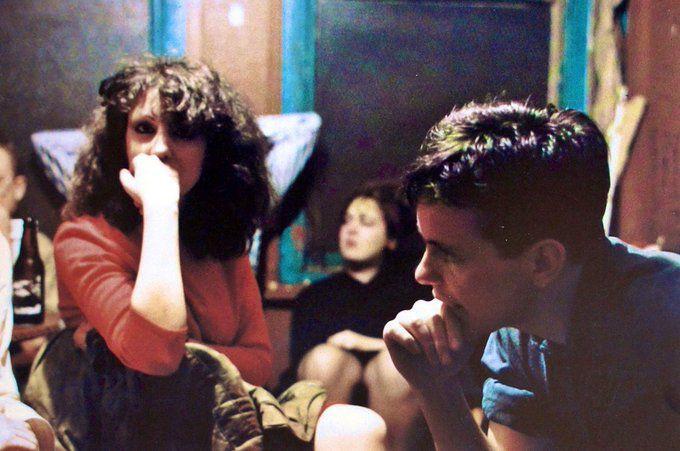 Gillian and Bernard backstage at Cedar Club, Birmingham - 1981