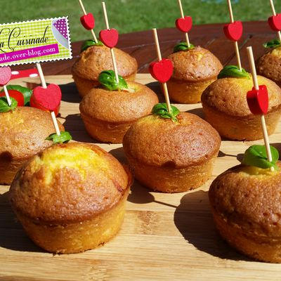 Muffin apéritif tomate basilic