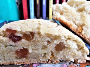 Petits pains gourmands HEALTHY VEGGIE vergeoise blonde vanillée-fruits confits.