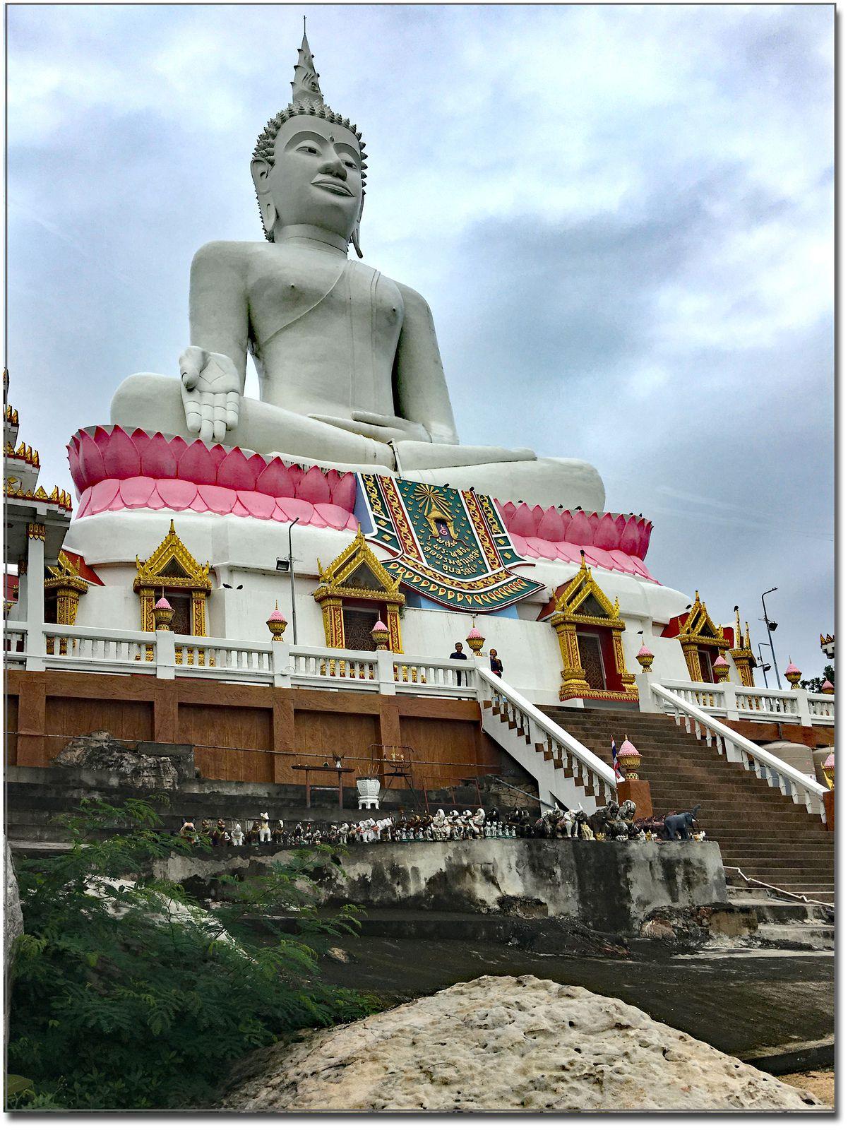 Direction big Bouddha (Thaïlande Ubolratana Dam)