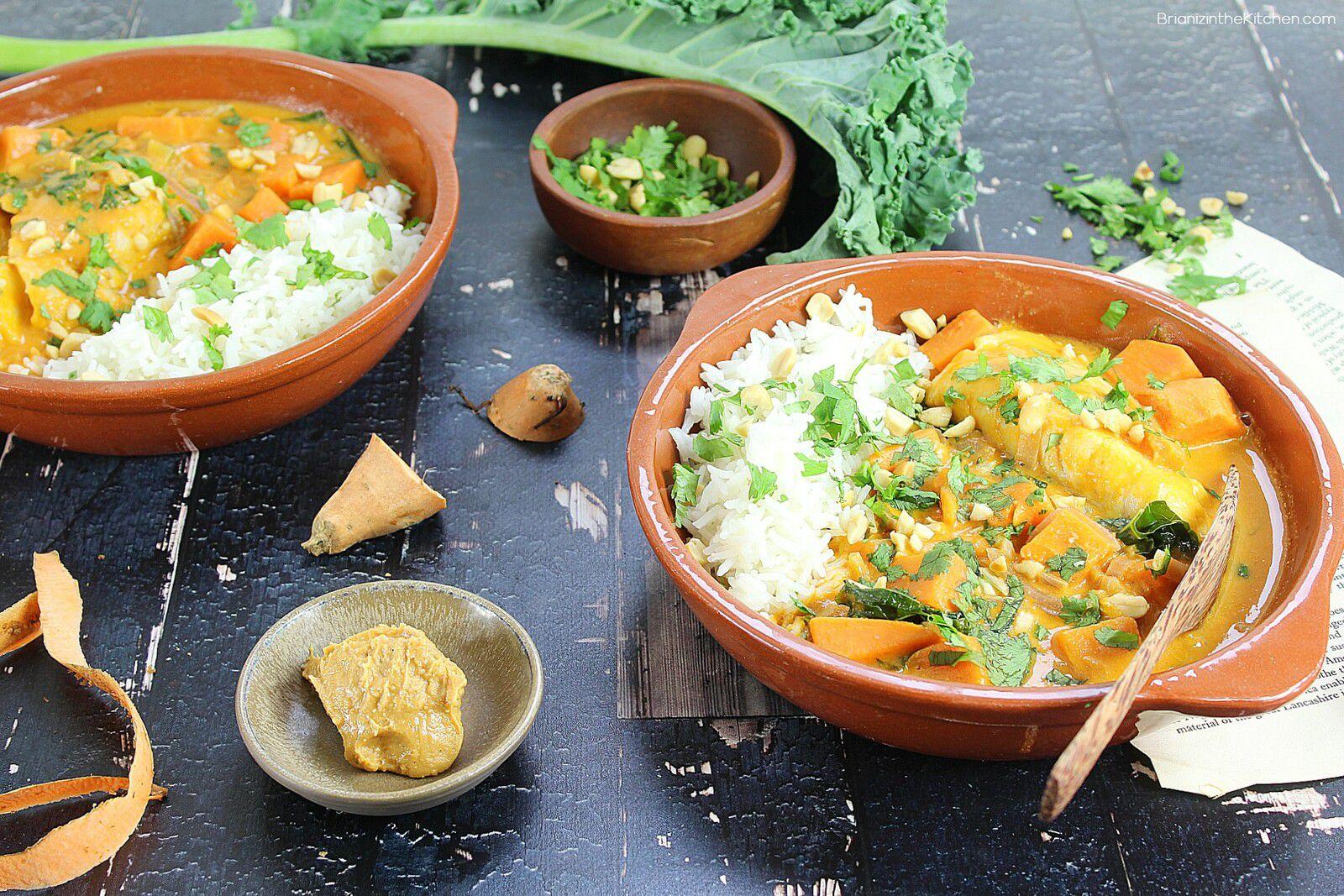 Soupe d'Inspiration Africaine {Poisson, Patate Douce et Purée de Cacahuète}
