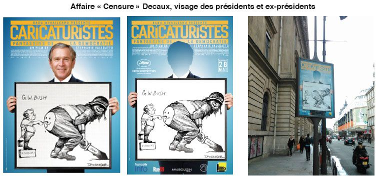 Un dessin censuré par Decaux