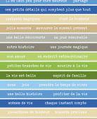 FDSE04403 Etiquette un air montagnard - Bandes de mots multicolores FEE DU SCRAP