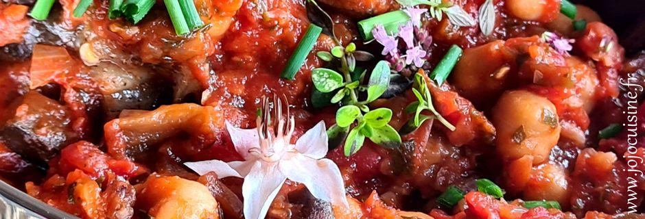 Ragoût d'Aubergines aux Pois Chiches