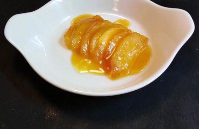 POMME TIÈDE AU CARAMEL AU BEURRE SALE / Dessert du jour