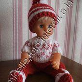 tuto gratuit poupée: bonnet à pompon bicolore pour tricoteuses débutantes - Chez Laramicelle