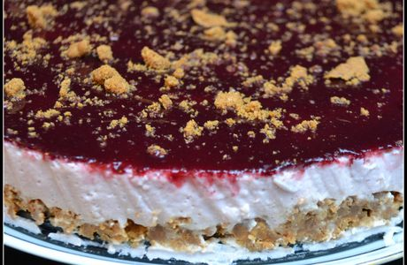 Cheesecake Fraise Speculoos Cassis (sans cuisson)