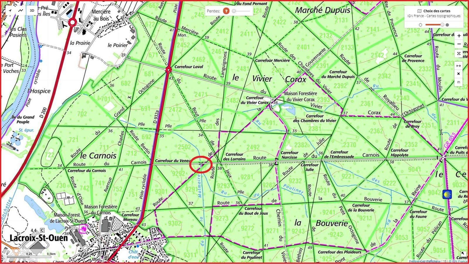 carrefour_Route de la Gouvernante_Route du Carnois