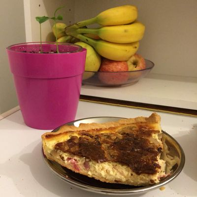 Quiche salami/champignons/lardons