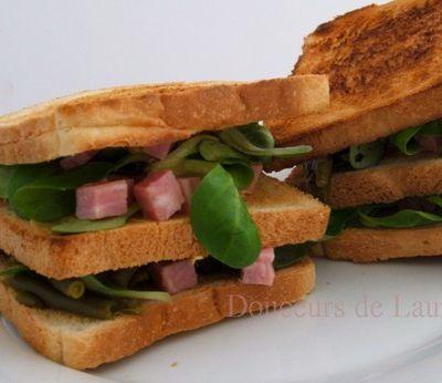 Sandwich Jambon & Haricots verts.