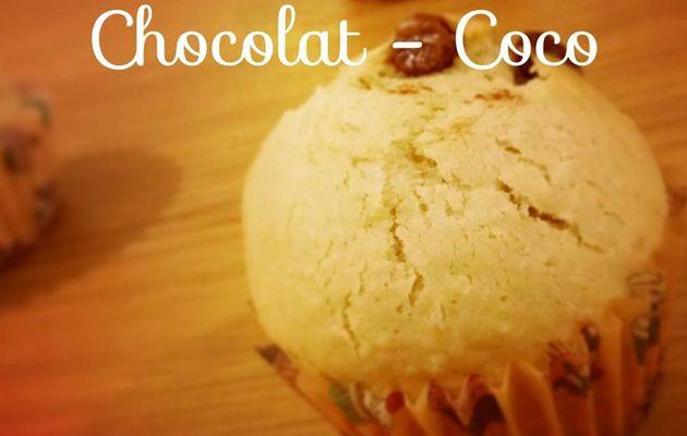Muffins Pepites de Chocolat - Coco