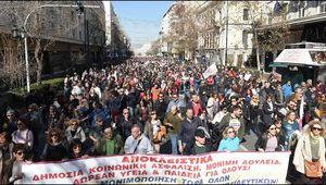 KKE - les travailleurs grecs organisent une grève nationale de 24h