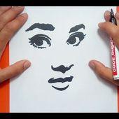 Como dibujar un rostro paso a paso   How to draw a face