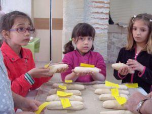 Bien pétrir puis façonner et laisser lever son paton , le mettre au four et sentir la bonne odeur de nos pains bien dorés!