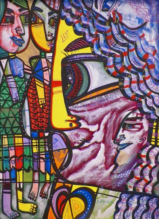 """Oeuvres prévues pour l'exposition """"Laurentiu Dimisca"""" - Mairie du 2e Lyon - du 20 au 29 mars 2013, sous l'égide du Consulat Général de Roumanie à Lyon"""