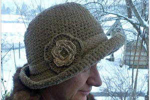 chapeau à la rose