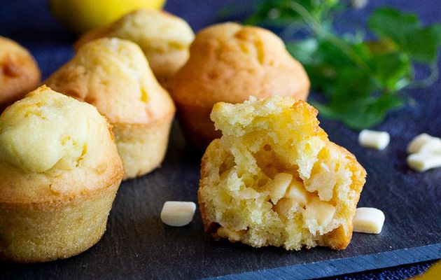 Muffins au citron et au chocolat blanc