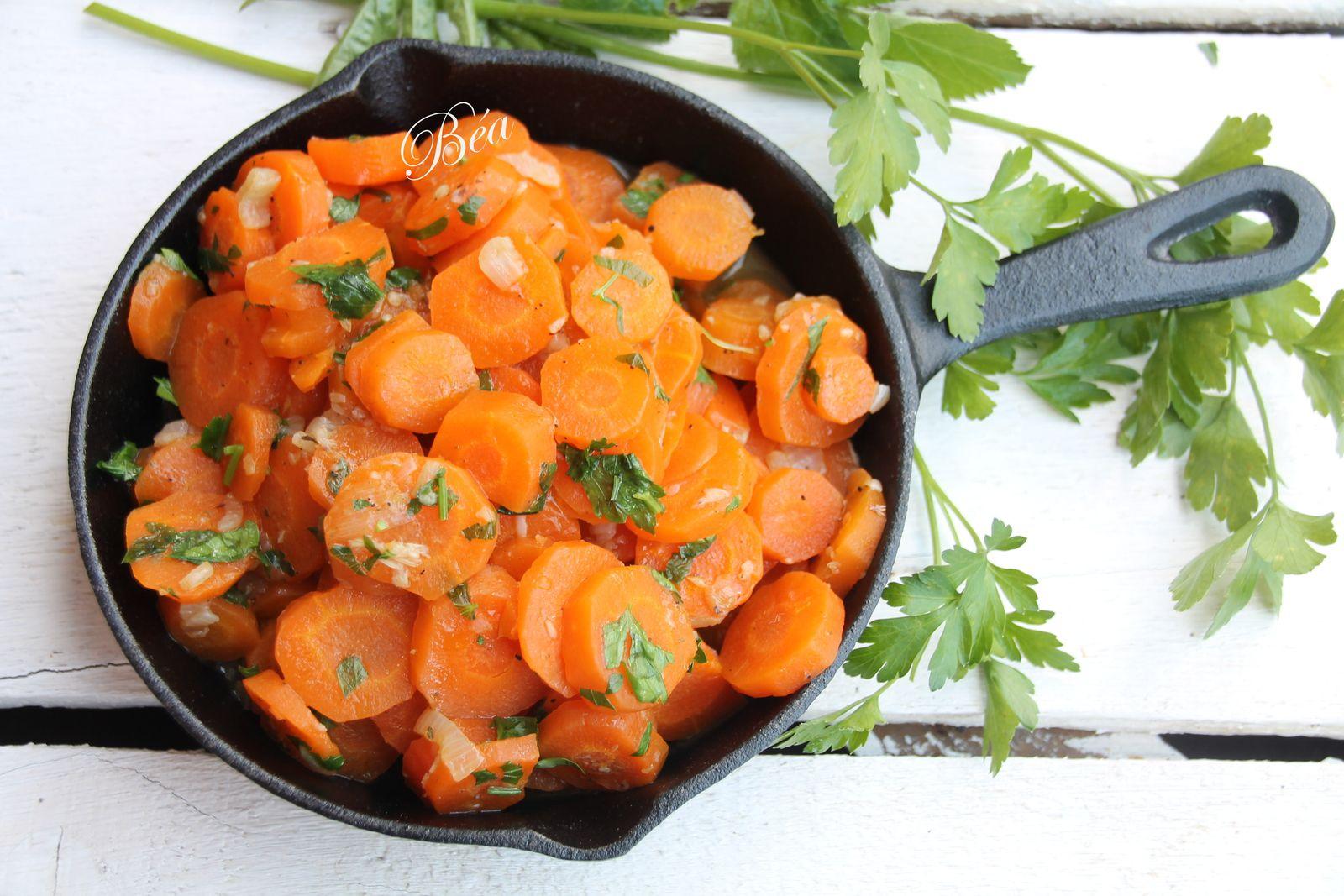Aiguillettes de poulet au boursin et carottes vichy