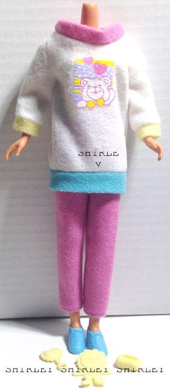 """BABYSITTER"" SKIPPER DOLL CLOTHES 1994 MATTEL #12071"