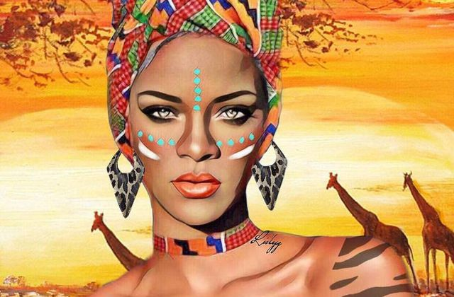 Rihanna: Magnifique réalisation de cette image avec un beau décor❤