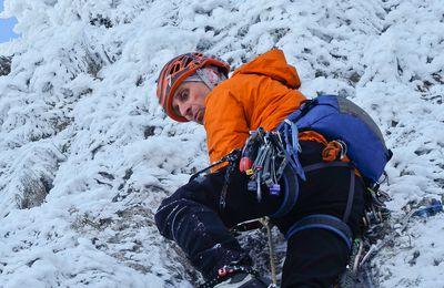 """Topo du site d'alpinisme hivernale du """"col de la Bataille"""" Au 1er novembre 2020."""
