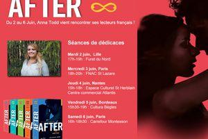 Anna Todd sera en France au mois de Juin