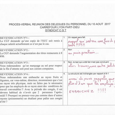 Question D.P. Aout 2017