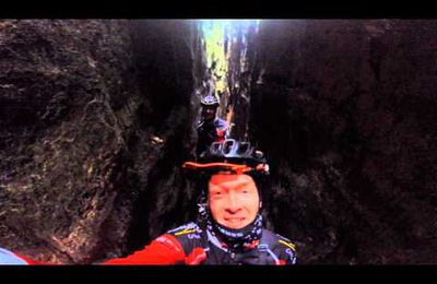 Funny mtb-experience in the #mullerthal #caves......