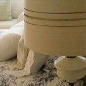 Musings From A French Cottage: Make Your Own Pottery Barn Grain Sack Lamp Shades