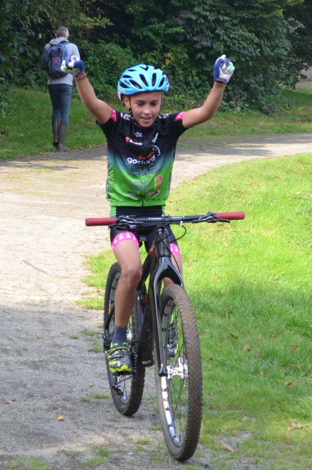 Ewen HAQUIN (Team Mégrit) vainqueur en Benjamins.