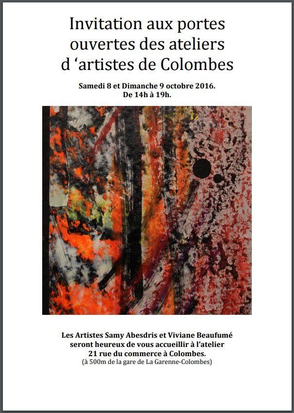 COLOMBES : ATELIER D'ARTISTE  Quand les artistes de colombes ouvrent leur portes aux colombiens