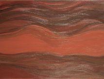 Peinture acrylique, femme nue allongée, 92x65 cm