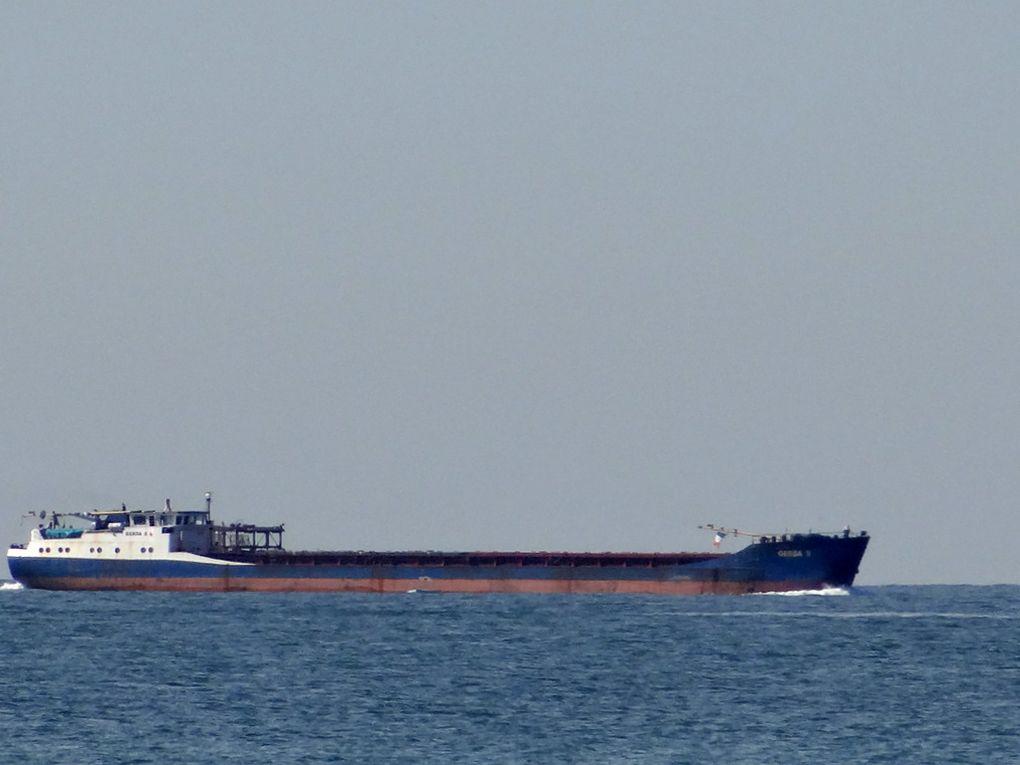 GERDA S , en transit dans le golfe de Fos Sur Mer le 14 avril 2016