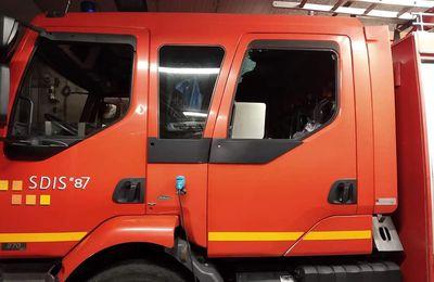 Limoges (87) - Les sapeurs-pompiers ont été la cible de caillassage en pleine intervention
