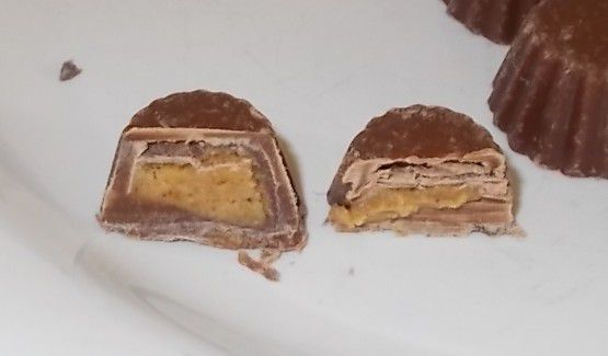 Reese's Peanut Butter Cups Minis unwrapped