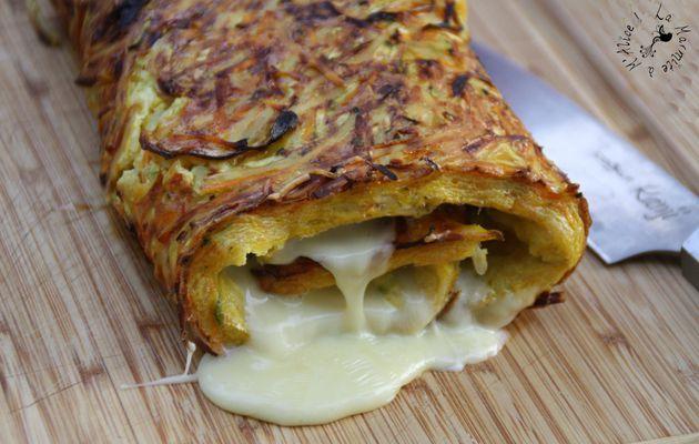 Omelette aux Légumes Roulée au Reblochon