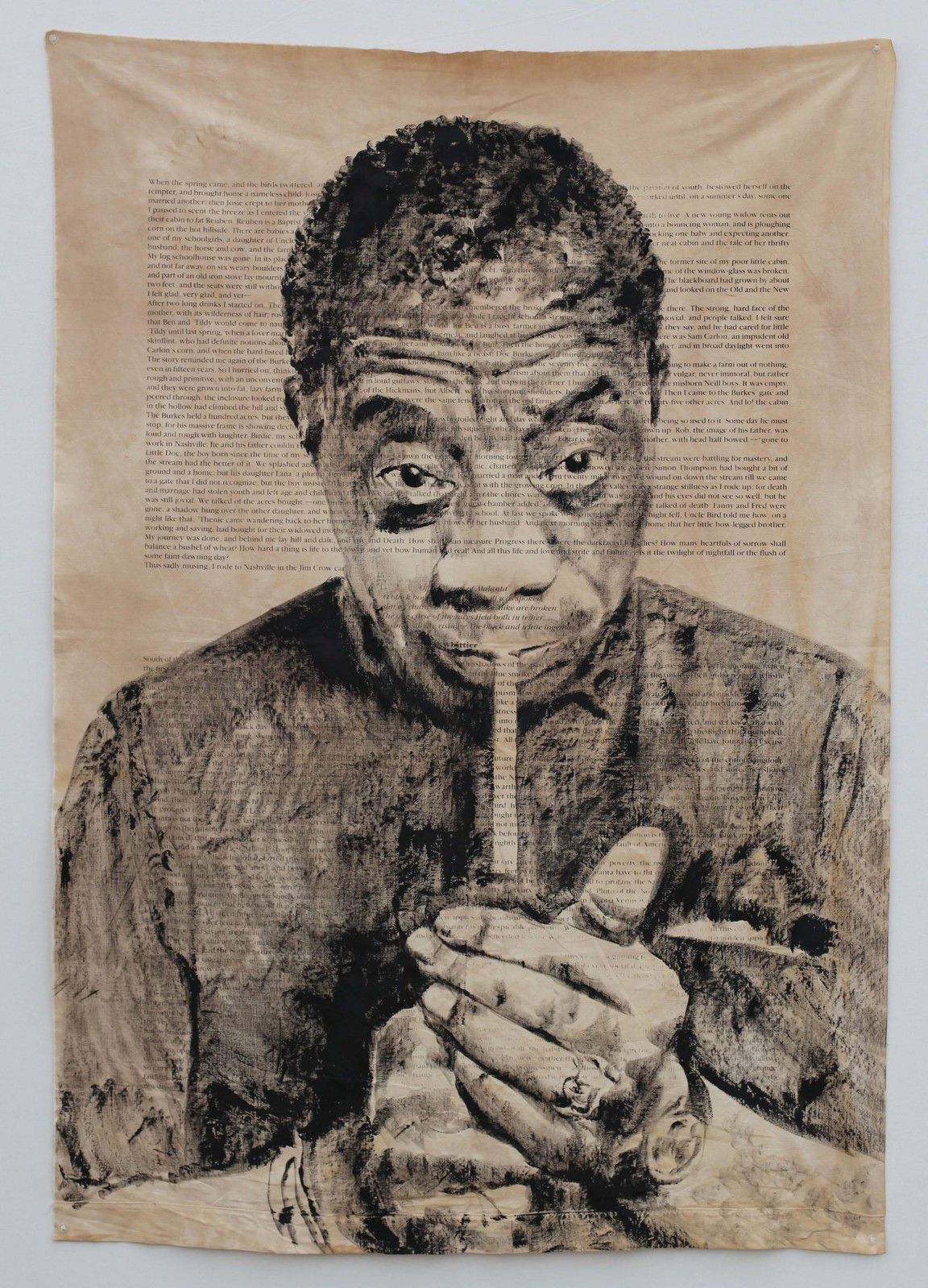 """James Baldwin"" de Roméo MIVEKANNIN - Courtesy Galerie Éric Dupont © Photo Éric Simon"
