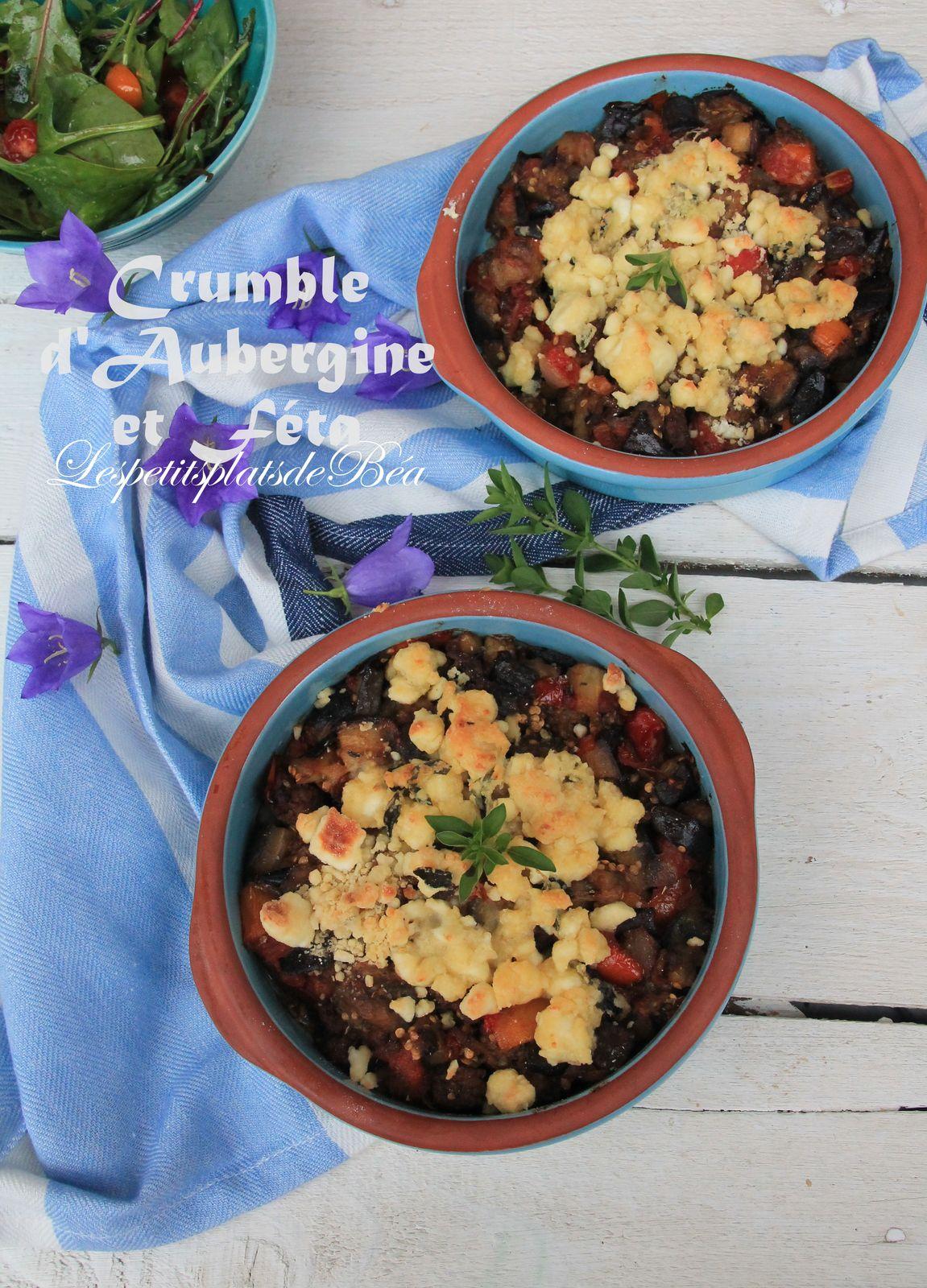 Crumble d'aubergine et féta