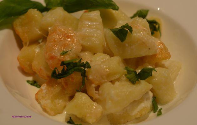 Gnocchi de pommes de terre gratinés au parmesan