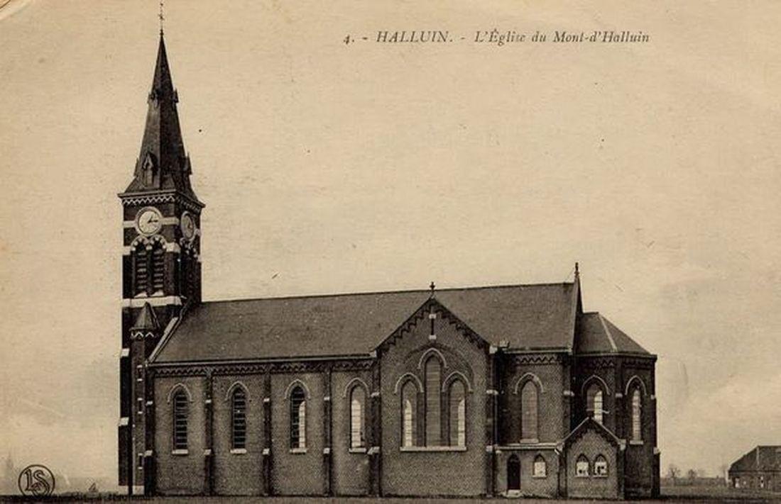 Eglise Saint-Alphonse Halluin Mont... vers 1910.