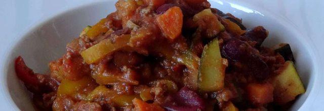 chili de légumes au boeuf